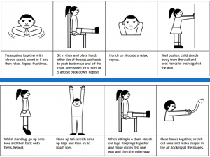Poster for a child to fill in with information about themselves.